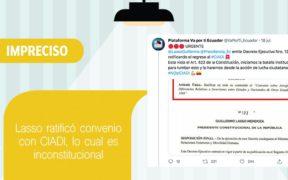 FAKE NEWS Guillermo Lasso